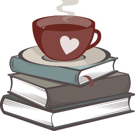 Book clipart coffee and