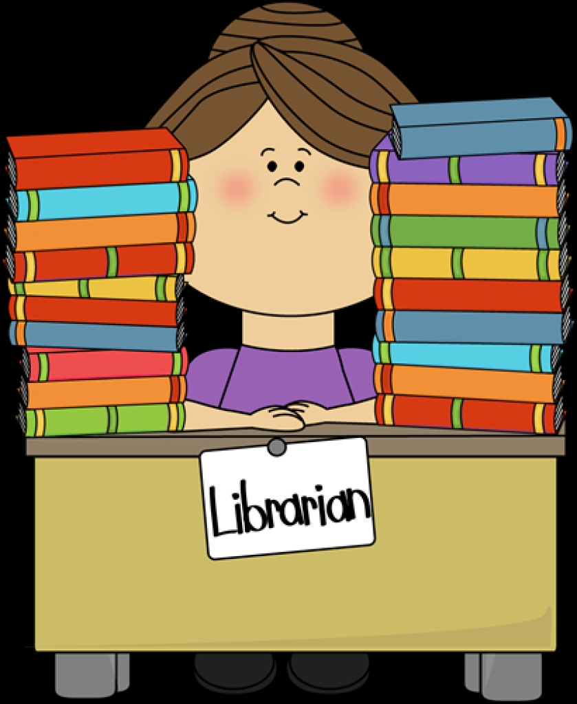 Clip art image in. Clipart library librarian