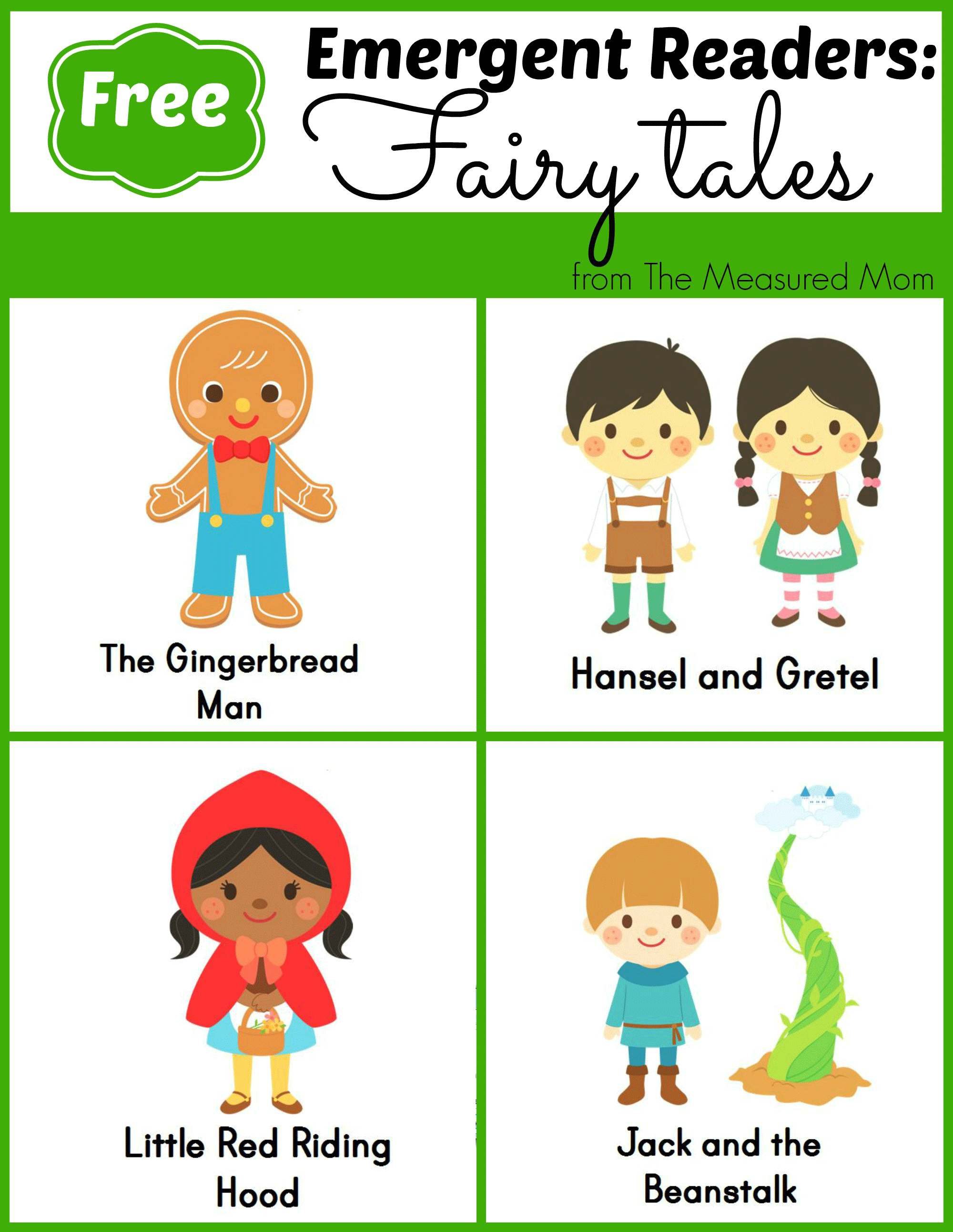 Fairy tale emergent readers. Books clipart fairytale