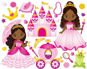 Fairy tale princess clip. Books clipart fairytale