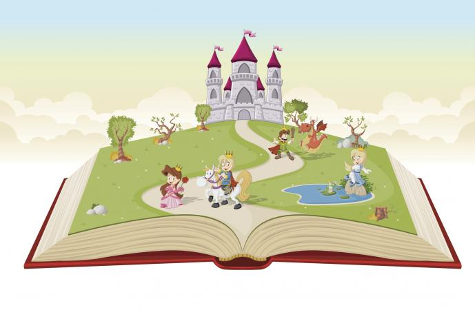 Short easy fairy tales. Books clipart fairytale