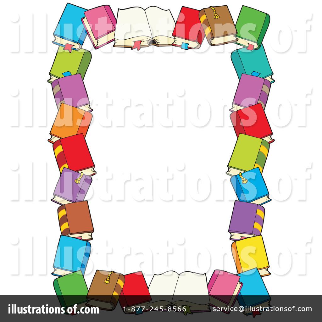 Books clipart frame. Illustration by visekart royaltyfree