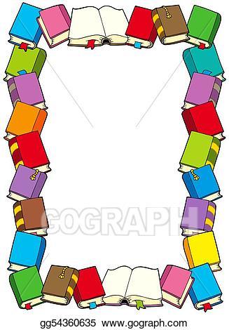 Stock illustration from gg. Books clipart frame