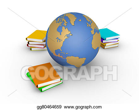 Books clipart knowledge. Drawing of earth in
