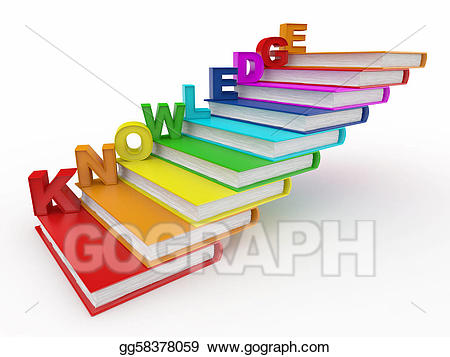 Stock illustration word on. Books clipart knowledge