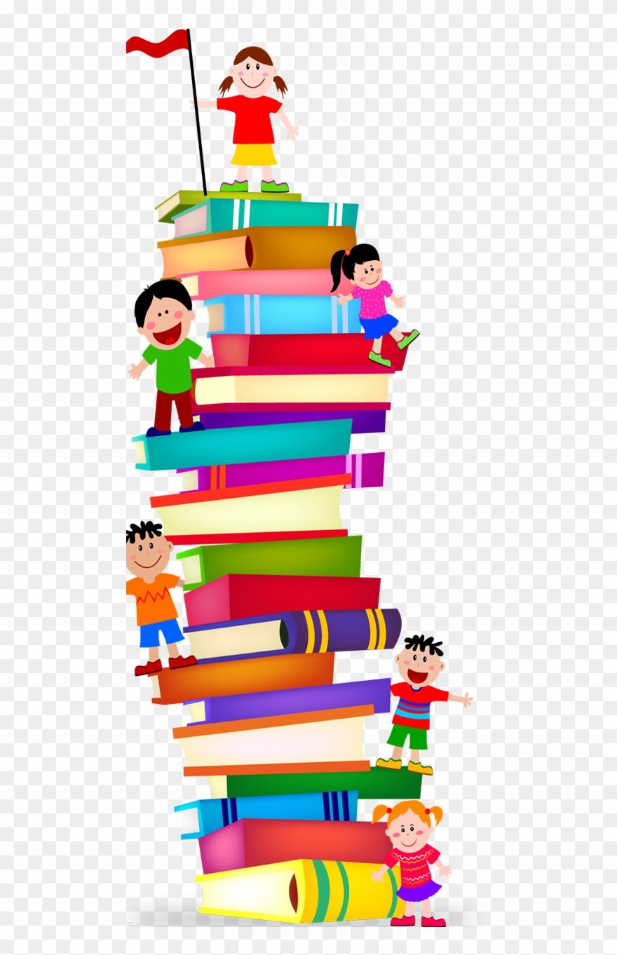 Books clipart menu. Stack preschool book clip