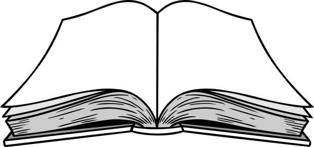 collection of black. Books clipart open book