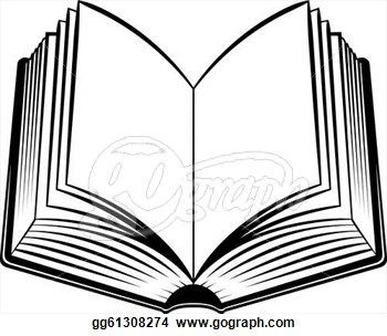 Elegant Of Open Book Clipart Black And White Png - Letter Master
