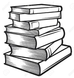 collection of high. Books clipart outline