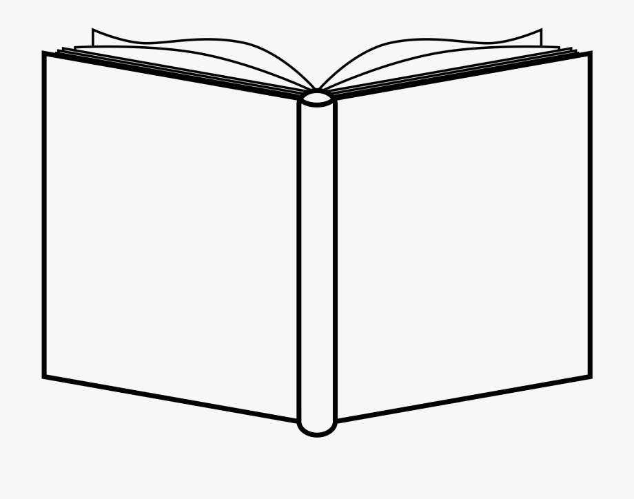 Black and white book. Books clipart outline