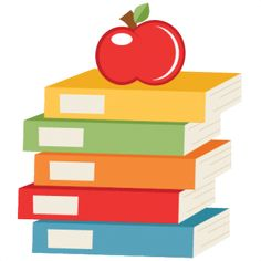 Books clipart scrapbook. Stacked school svg title