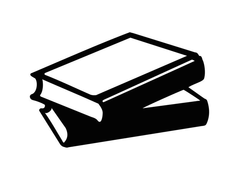 Books clipart silhouette. Svg digital clip art