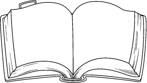 Coloring page book incep. Books clipart simple