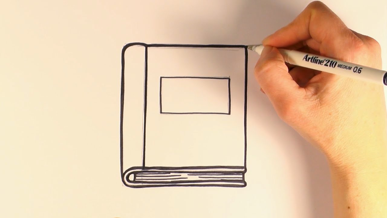 Book clipart easy. How to draw a
