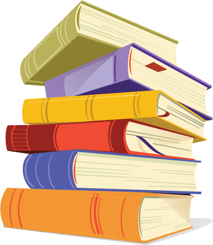 Stack of cliparts . Books clipart stacked
