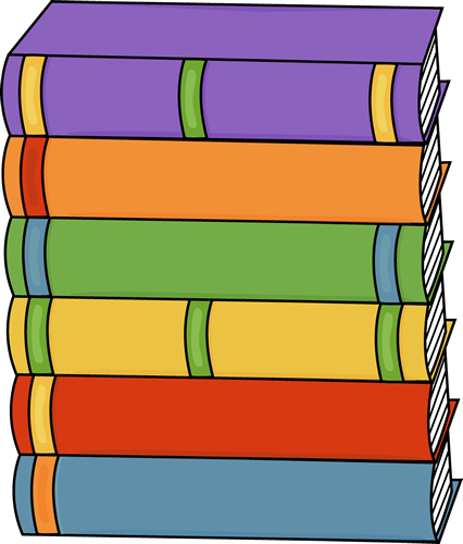 Pin by becky jorgensen. Books clipart stacked