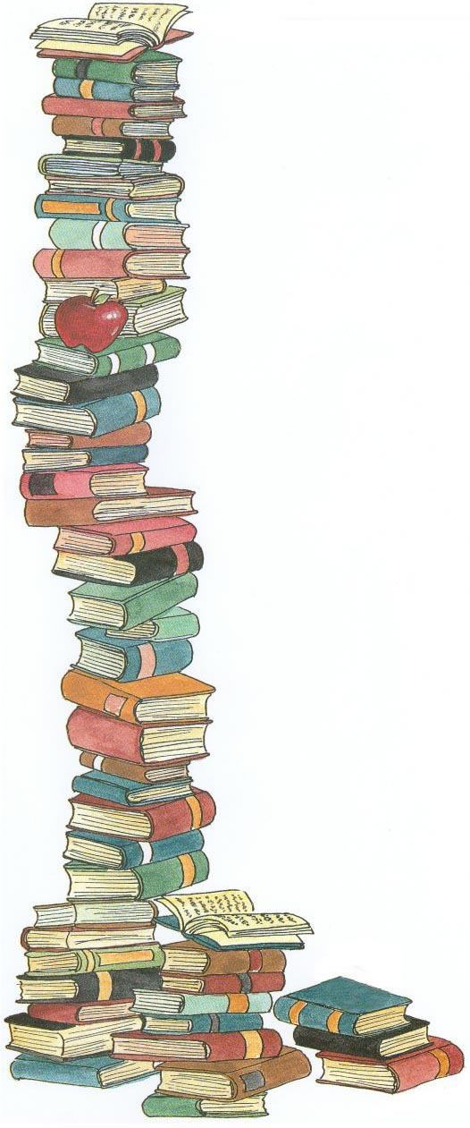 Stack of childrens clip. Books clipart supply