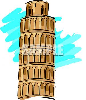 Books clipart tower. Picture of the leaning