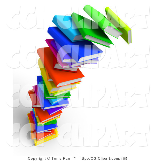 Books clipart tower. Clip art of a
