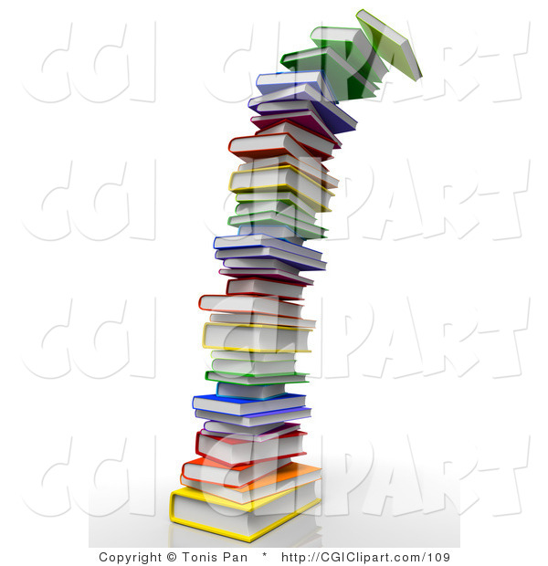 Clip art of a. Books clipart tower