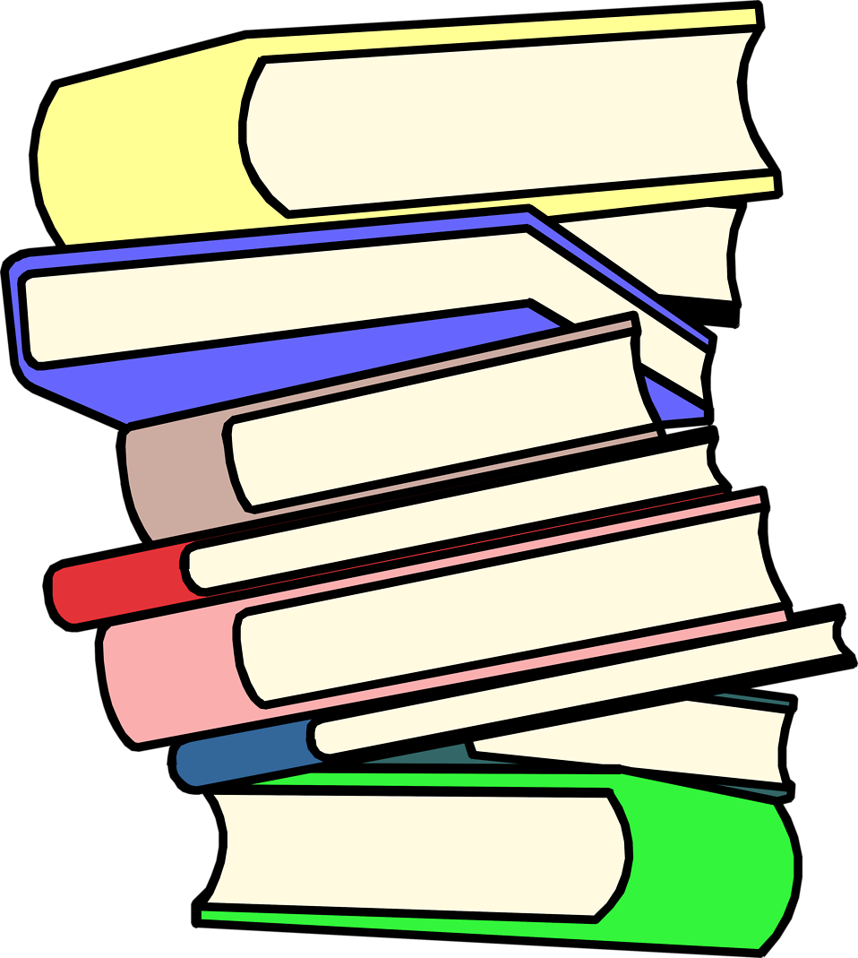Homework clipart stack.  collection of books