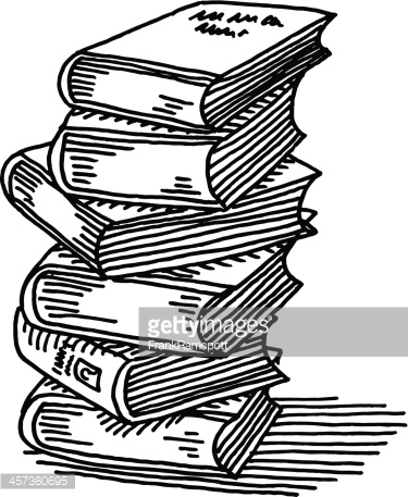 Transparent background collection stack. Books clipart vector