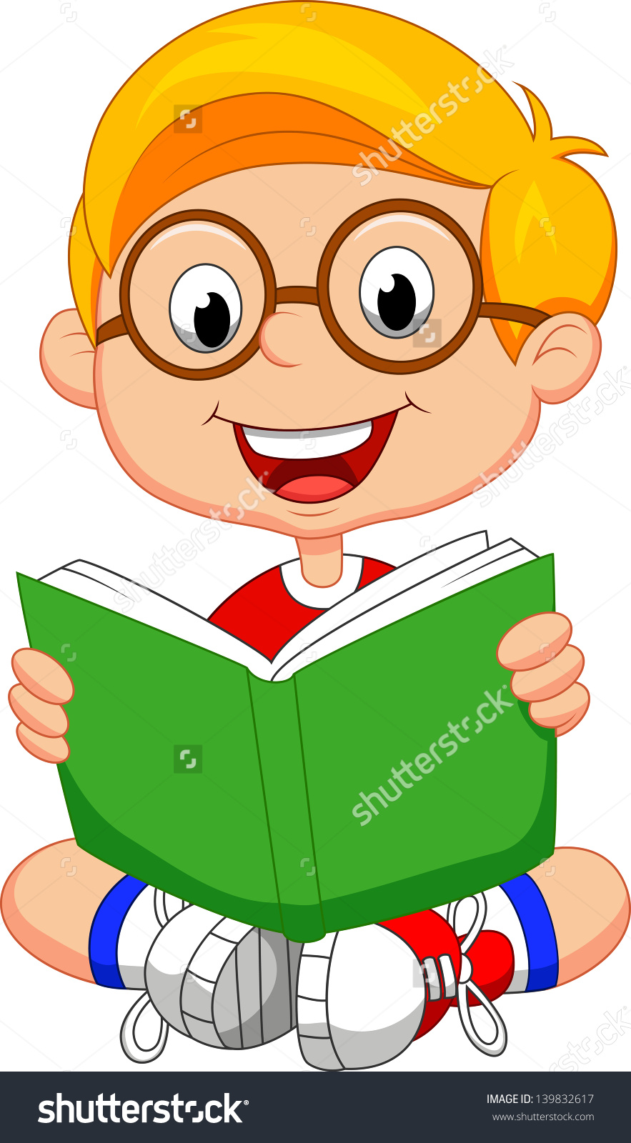 Boy with book free. Books clipart vector