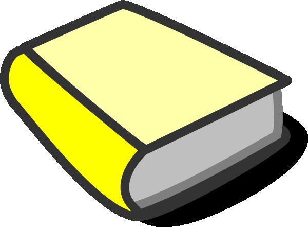 Yellow book reading clip. Books clipart vector
