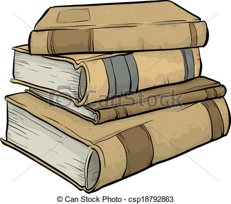 Pile of books drawing. Textbook clipart old book