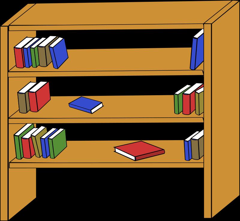Bookshelf clipart. Panda free images bookshelfclipart