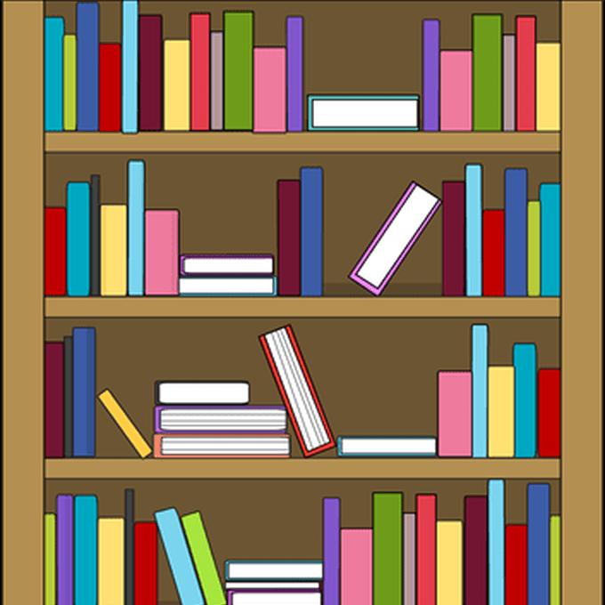 Empty classroom clip art. Bookshelf clipart