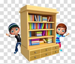 Bookshelf clipart animated. Illustration shelf a child