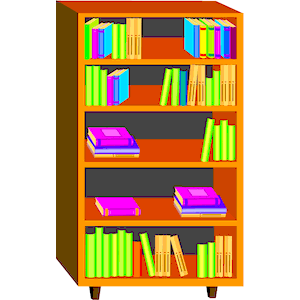 Bookshelf Clipart Animated Collection Of Library
