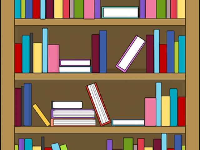 Bookshelf clipart animated. Stack of books free