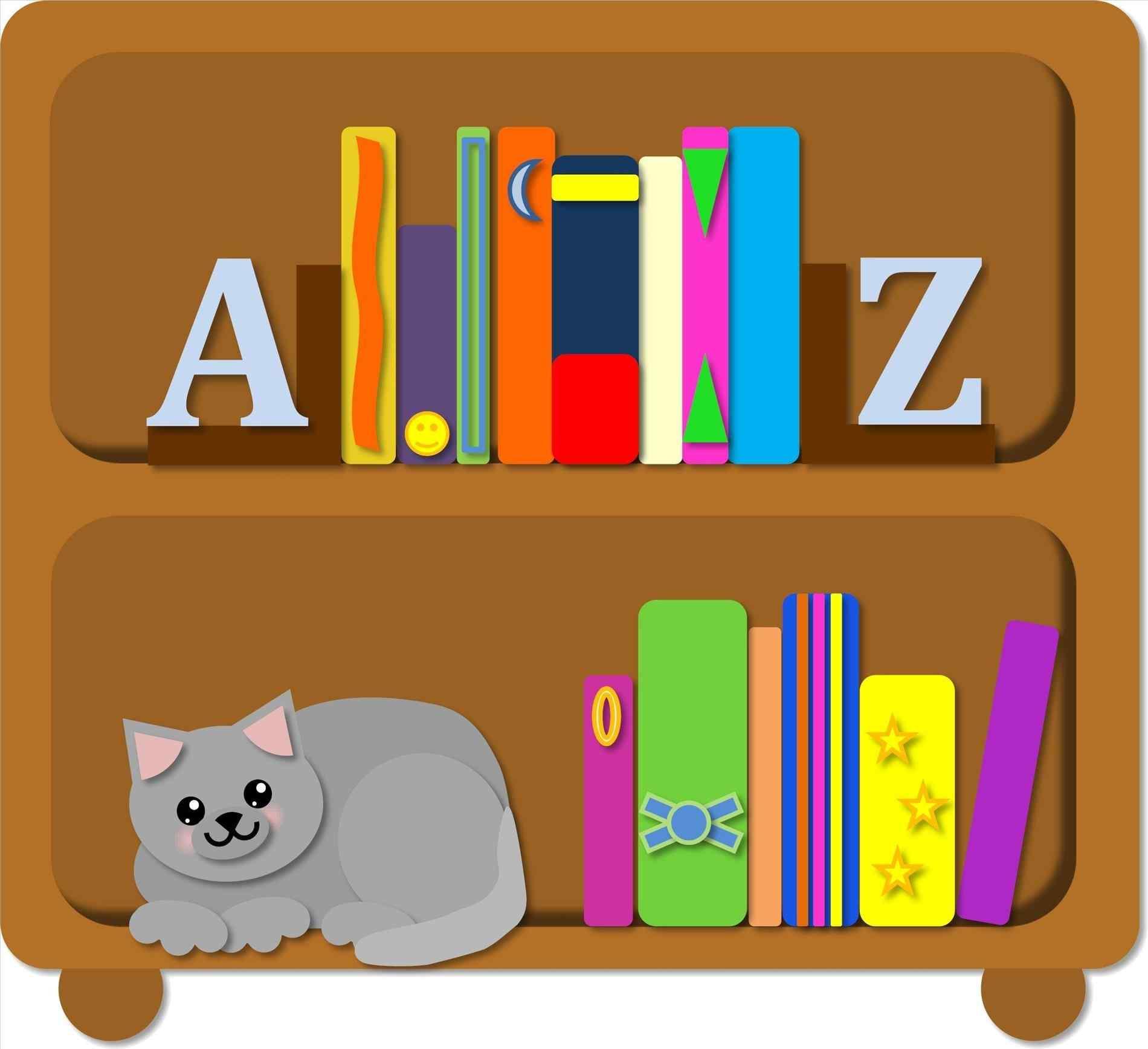 Bookshelves free download best. Bookshelf clipart animated
