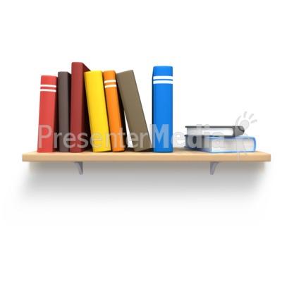 Bookshelf clipart animated. Books on wooden home