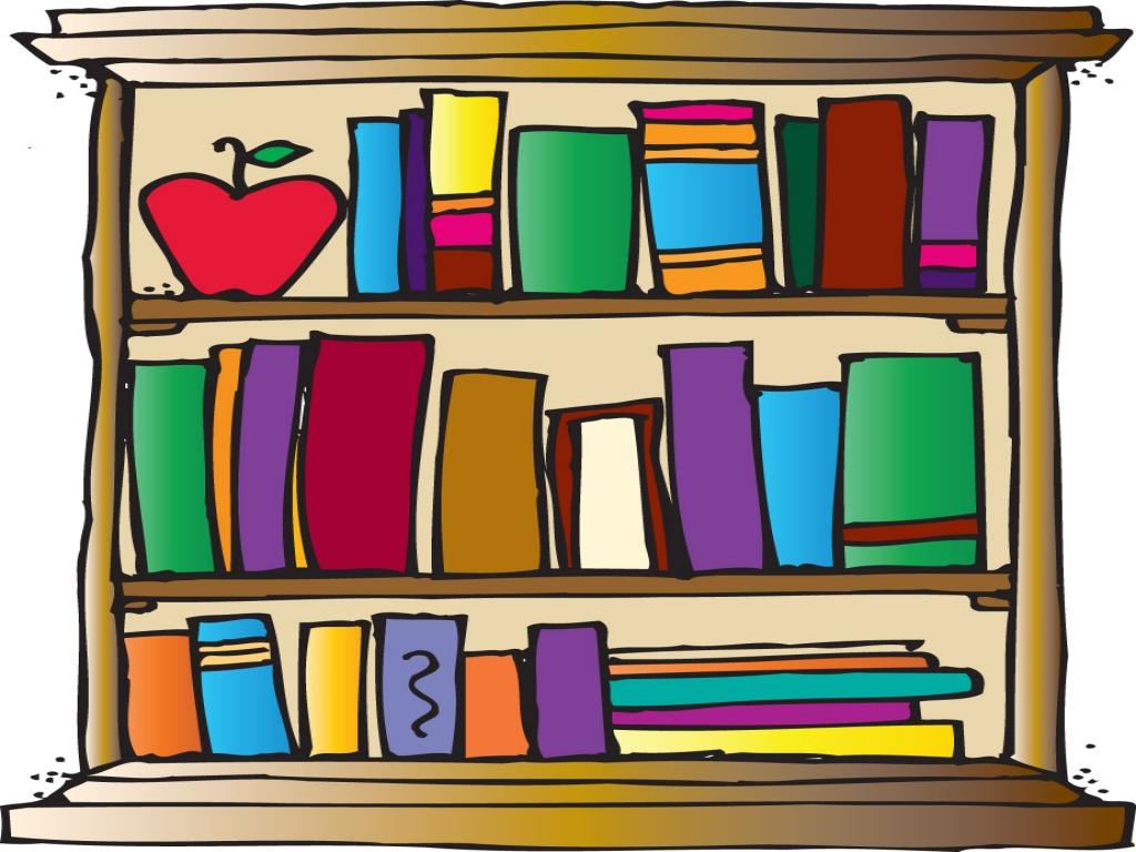 Design synkee. Bookshelf clipart background