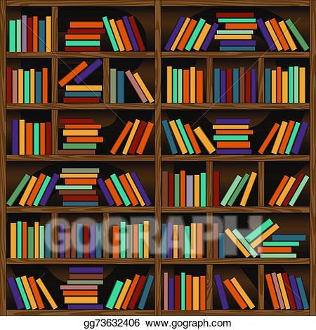 Vector stock illustration gg. Bookshelf clipart background