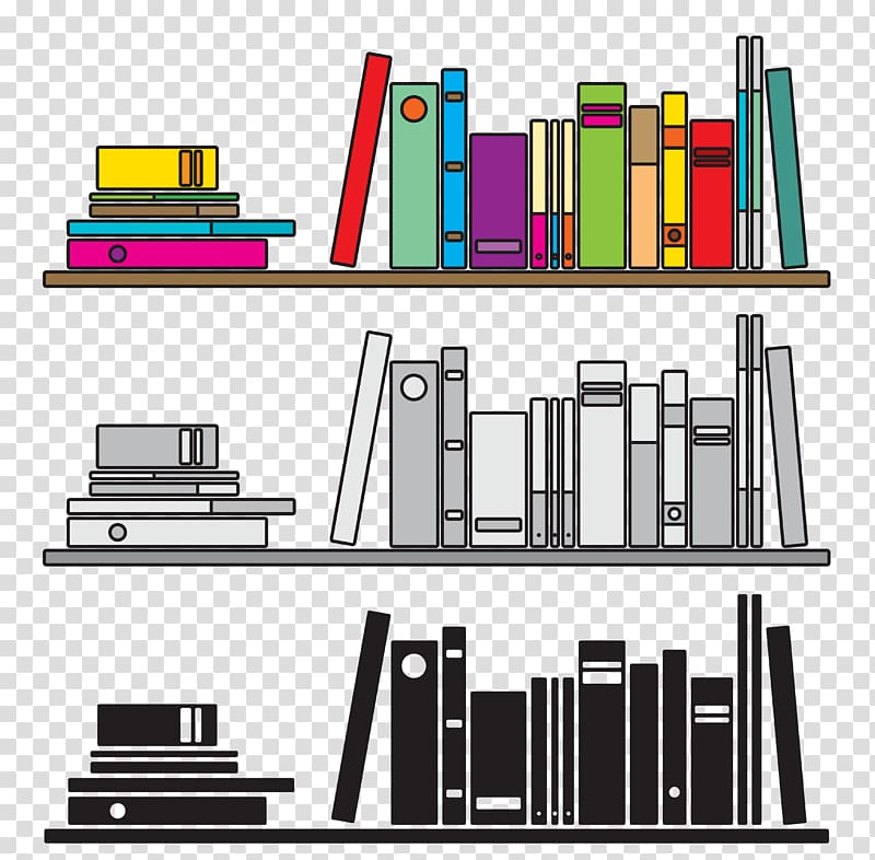 Bookshelf clipart background. Bookcase illustration books transparent