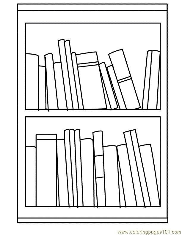 Bookshelf clipart black and white. Printable formats card making