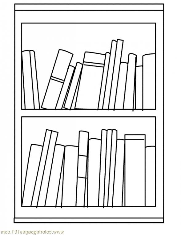 Bookshelf clipart black and white. With books tool clip