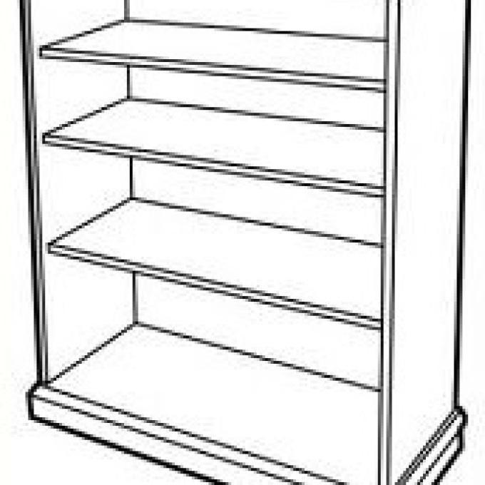 Bookshelf clipart black and white.  clip art shelves