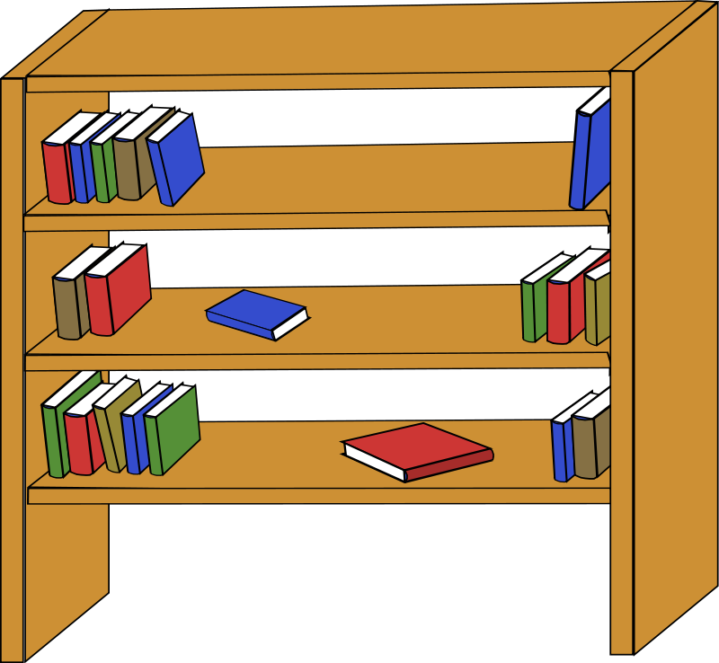 Textbook clipart library book. Bookshelf panda free images