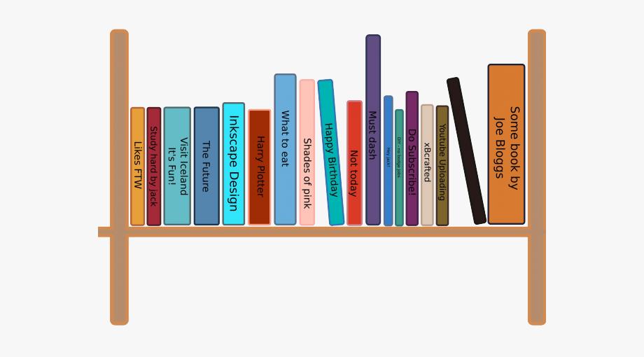 Bookshelf clipart cartoon. Bookcase drawing books on