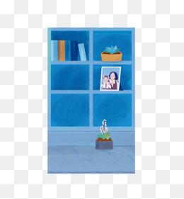 Bookshelf clipart cartoon. Png images vectors and
