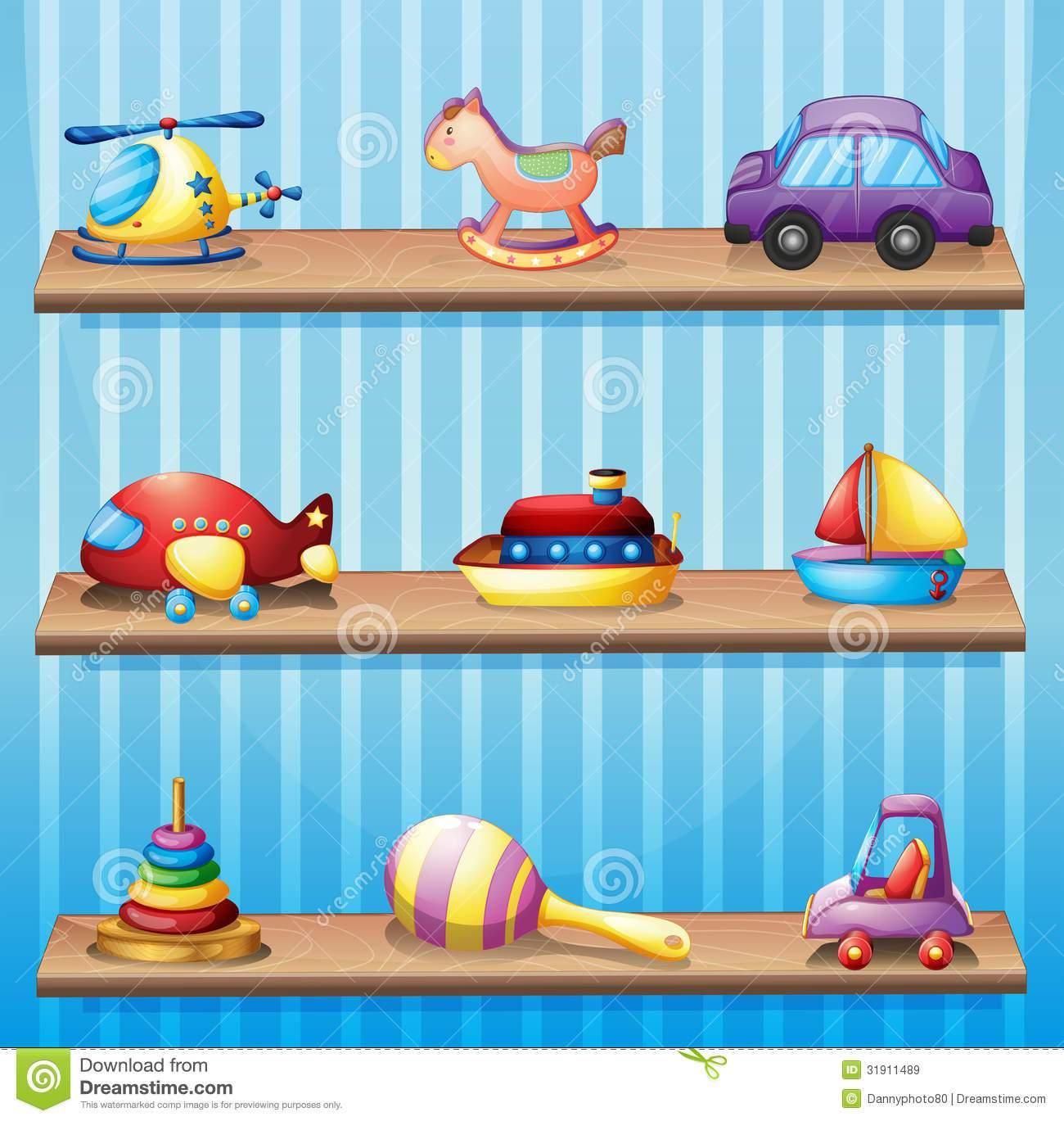Bookshelf clipart cartoon. Toy shelf shelves clip