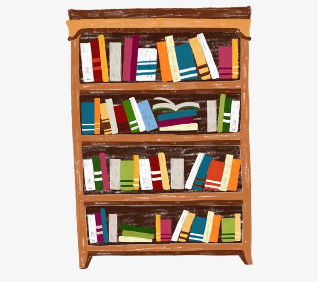 Books learn png image. Bookshelf clipart cartoon