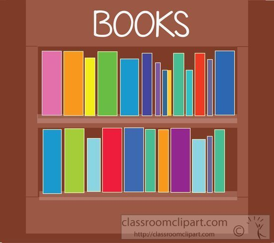 Bookcase pencil and in. Bookshelf clipart classroom