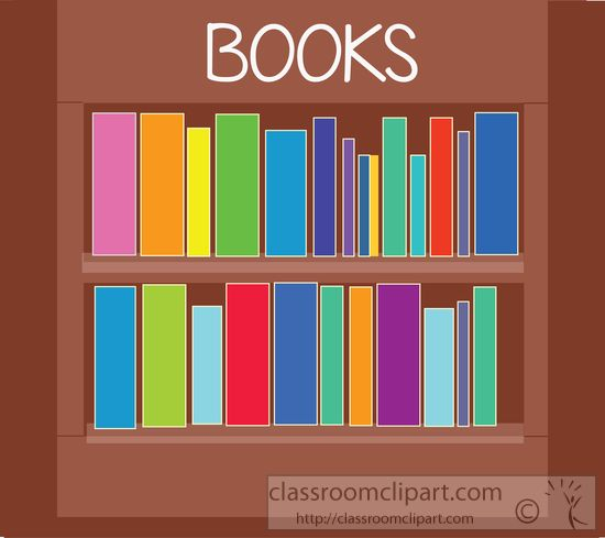Bookshelf clipart classroom. Book books on