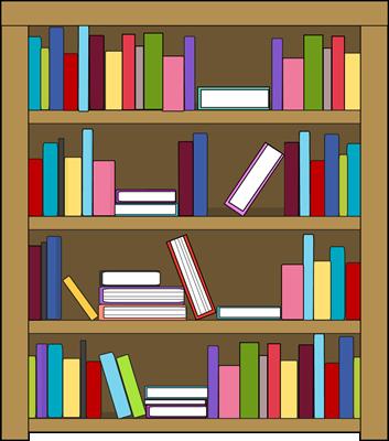 Clip art for schedules. Bookshelf clipart classroom